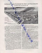BERLIN-BRESLAU, Werbung 1911, Archimedes AG Stahl-Eisen-Industrie