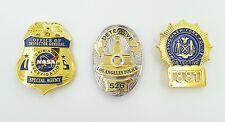 NASA SPECIAL AGENT + LAPD DETECTIVE 526 + NYPD 881 DIE HARD POLICE BADGE PINS!