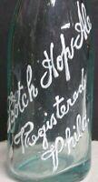 1900's Scotch Hop Ale Embossed Aqua Crown Bottle - Philadelphia, PA
