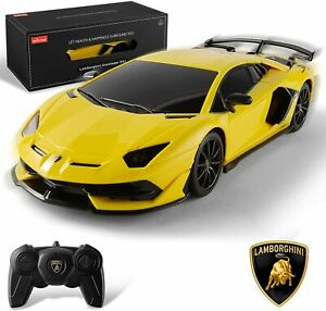 NEW - BEZGAR X RASTAR RC Yellow Lamborghini Aventador SVJ Electric Sports Car