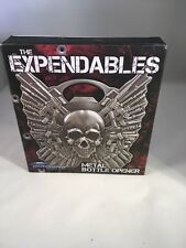 """""""THE EXPENDABLES"""" METAL BOTTLE OPENER. 4 INCHES. SKULL, NEW IN BOX"""