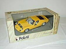 LAMBORGHINI MIURA P 400 BERTONE GIALLA - POLISTIL  - 1:18 - MINT/Near Mint w/Box