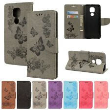 For Motorola Moto G9 Play/G9 Plus Flip Leather Pattern Wallet Phone Case Cover