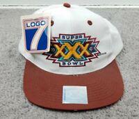 Vtg Super Bowl XXX Logo 7 NFL Official 1995 Snapback Hat 90s