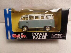 NEW IN BOX MAISTO VOLKSWAGEN BUS POWER RACER DIE CAST PULL BACK ACTION