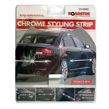 Tira Estilo Cromo Auto Adhesivo Coche Ribete Moldeo Recorte Hot 3.5 cm 2.45 M Nuevo