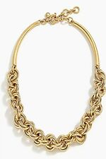 JCREW CHAIN COLLAR ANTIQUE GOLD NECKLACE---NEW WITH TAG--SRP $88