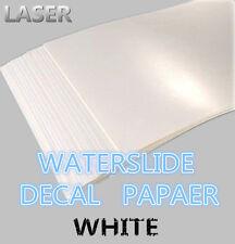 SZ03-LB A4 Laser Printer Water Slide Decal Paper 10 Sheets White