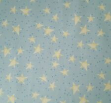 Baby Bear Hugs BTY Quilting Treasures Popcorn the Bear Stars on Blue