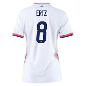 2020 Julie Ertz #8 USA WOMENS White 4 Star Soccer Jersey, Olympics
