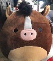 "NWT Squishmallows Kellytoy Summer 12"" BRISBY the Horse Plush"