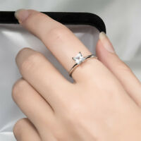 Womens 0.75 Ct Solitaire PRINCESS CUT Wedding Engagement Promise RING SIZE 5-9
