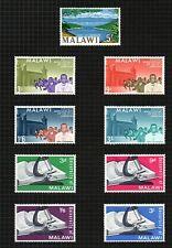 """Malawi 1965  5/- sg225a, """"1915 Rising"""" sg238/41 & """"Malawi Uni"""" sg242/5."""