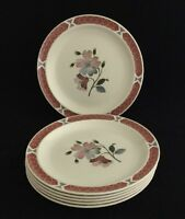 "WEDGWOOD "" ALBANY "" 18 cm Side Tea Plates X 6"