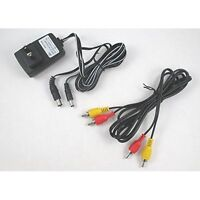 Original NES Hookup Connection Kit AC Adapter Power Cord AV Cable Vintage 6Z