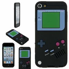 For iPod Touch 5th / 6th Gen - Black Gameboy Player Soft Rubber Silicone Case