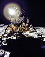 Lunar Module Antares on Fra Mauro Highlands of Moon during Apollo 14 Photo Print