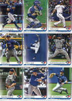 2019 Topps Complete (Series 1 & 2) Toronto Blue Jays Team Set of 21 Cards