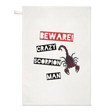 Beware PAZZO Scorpione Uomo tè TELO piatto PANNO - divertente animale