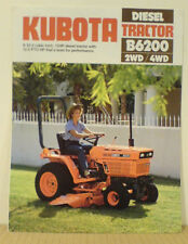 KUBOTA DIESEL B6200  2 AND 4WD TRACTOR 1984 SALES BROCHURE  *NOS*   FOLDER 1