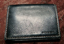 Fossil Men's BLACK PEBBLED LEATHER  Bifold Wallet