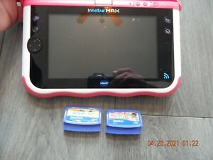 VTech Innotab Max Kids Learning Tablet Pink With 3 Games