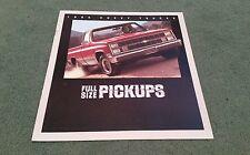 1984 CHEVY CHEVROLET FULL SIZE PICKUP 2WD 4WD USA BROCHURE Silverado Stepside
