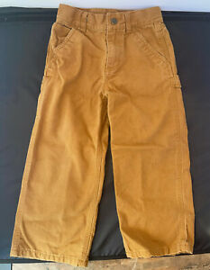boys toddler carhartt 4t pants cotton brown Carpenter