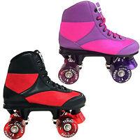 California Pro Cyclone Quad Roller Skates UK Sizes 3-9 Black Pink Unisex