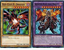 Fusion Set of 2 Mint 1st  Archfiend Black Skull Drago+ Red-Eyes B. Dragon  LDK2