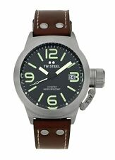 TW Steel Canteen CS21 45mm Black Dial Brown Strap Watch