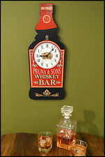 Customize Your Own Whiskey Bar Bottle Sign Clock (Bsc_5)