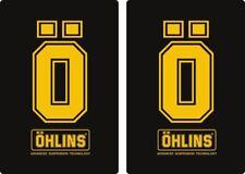 Ohlins Suspension Bike Upper Fork Decal Sticker Graphic Set Adhesive 2Pcs #5