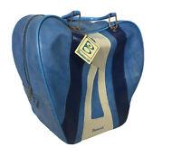 Vintage Brunswick Bowling Ball Bag Blue
