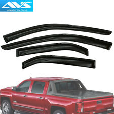 94528 AVS 4pc Window Vent Visor Rain Guards For Silverado / Sierra Double Cab