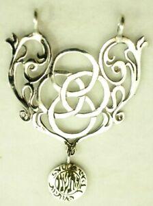 Vintage Filigree Scrolled Pendant Sterling Silver
