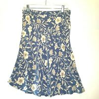 Eddie Bauer Womens Floral Skirt Size 10 Fit And Flare
