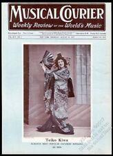 1927 Teiko Kiwa photo opera star in kimono Musical Courier framing cover
