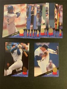 1993 Leaf Texas Rangers Team Set 22 Cards