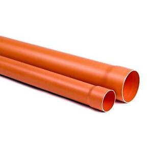 TUBO PVC PLASTICA ROSSA ARANCIO 2 METRI DIAM. 160 mm ACQUA FOGNA