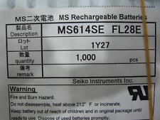 5x New Seiko Battery MS614SE-FL28E MS614SE FL28E Rechargeable 3V 3.4mAh