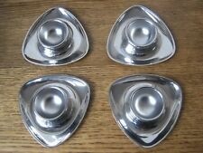 Set of 4 Alessi design Carlo Mazzeri Egg cups-uova bicchiere-Stainless Steel