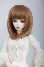 "BJD Doll Hair Wig 7-8"" 1/4 SD DZ DOD LUTS Light Brown Short"