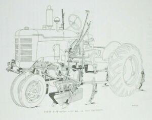 Farmall B BN B-238 BN-238 2 Row Hand Lift Cultivator Owner's / Parts Manual IH