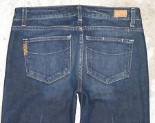Paige Premium Laurel Canyon Jeans Sz 30 Low Bootcut Dark Distressed