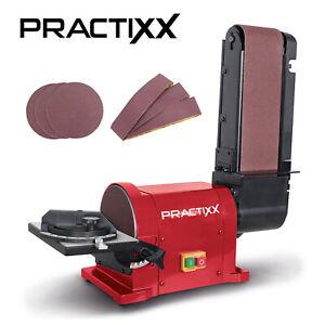 Practixx Band Tellerschleifer 150mm inkl. 6 tlg. Schleifset 450W Bandschleifer