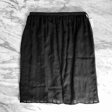 6d2be4adc5d CALVIN KLEIN Sheer Black Pleated A-Line Chiffon Skirt XS