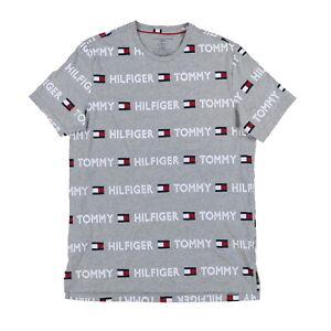 Tommy Hilfiger Mens Pajama Sleep Shirt Graphic Logo Sleepwear Pjs Sleepshirt New