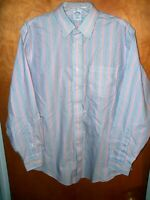 MEN'S BROOKS BROTHERS 346 STRIPED L LARGE 16 1/2 4/5 SHIRT SLIM FIT LONG SLEEVED