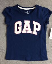 BABY GAP SHORT SLEEVE NAVY BLUE T.SHIRT WITH GREY LOGO EDGED IN PINK-AGE 2y BNWT